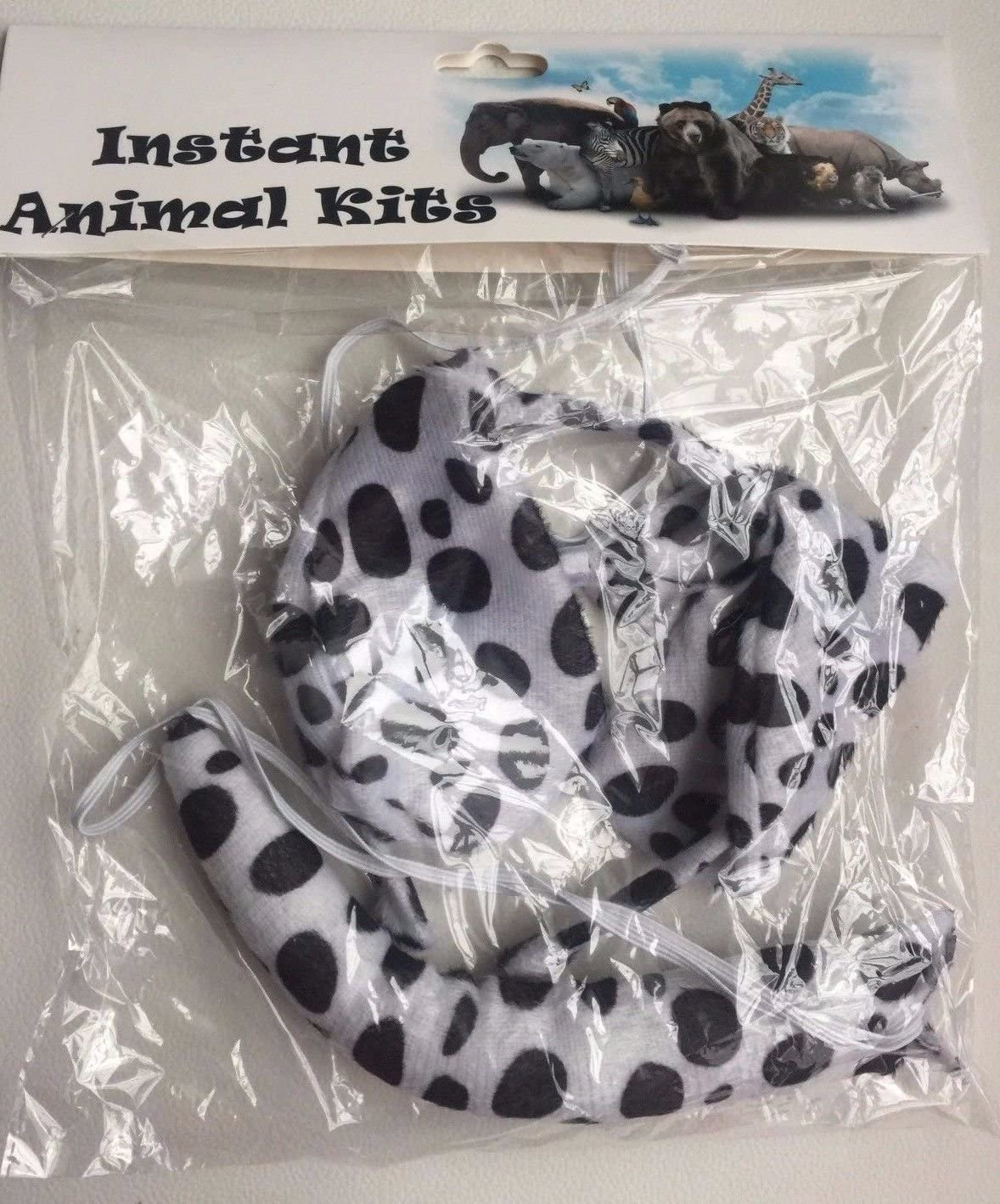 Adult Leopard Set Lizzy ANIMAL EARS BOW TAIL SET Costume Accessory Fancy Dress Party Kids Adults