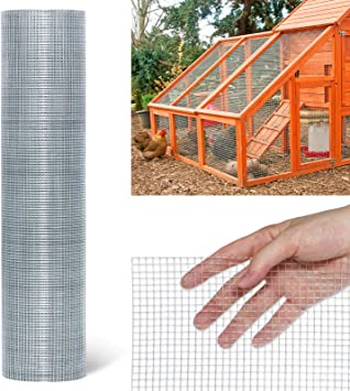 TOOCA Hardware Cloth 1/4inch Chicken Wire Mesh 24in x 50ft, 23 Gauge Hot-Dipped Galvanized Material Fence Wire Mesh for Chicken Coop/Run/Cage/Pen/Vegetables Garden and Home Improvement Project