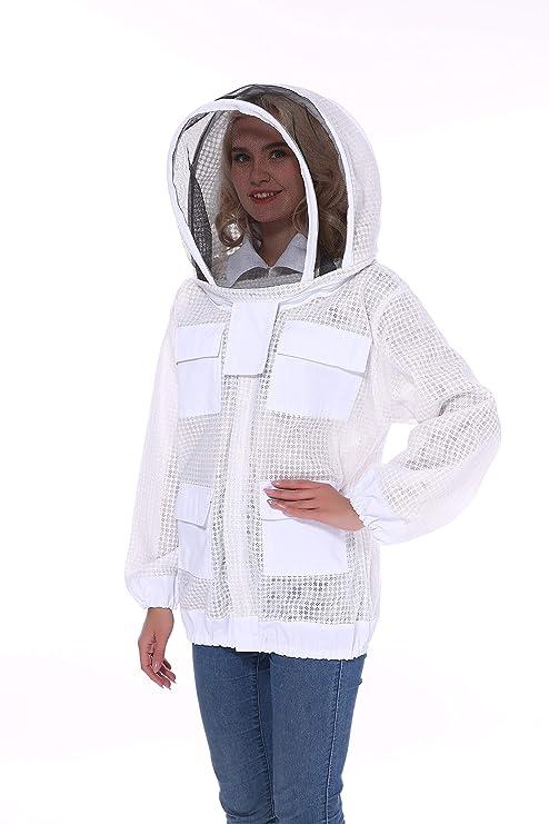 Bee - Chaqueta protectora para apicultura Beefun con tres capas de ...