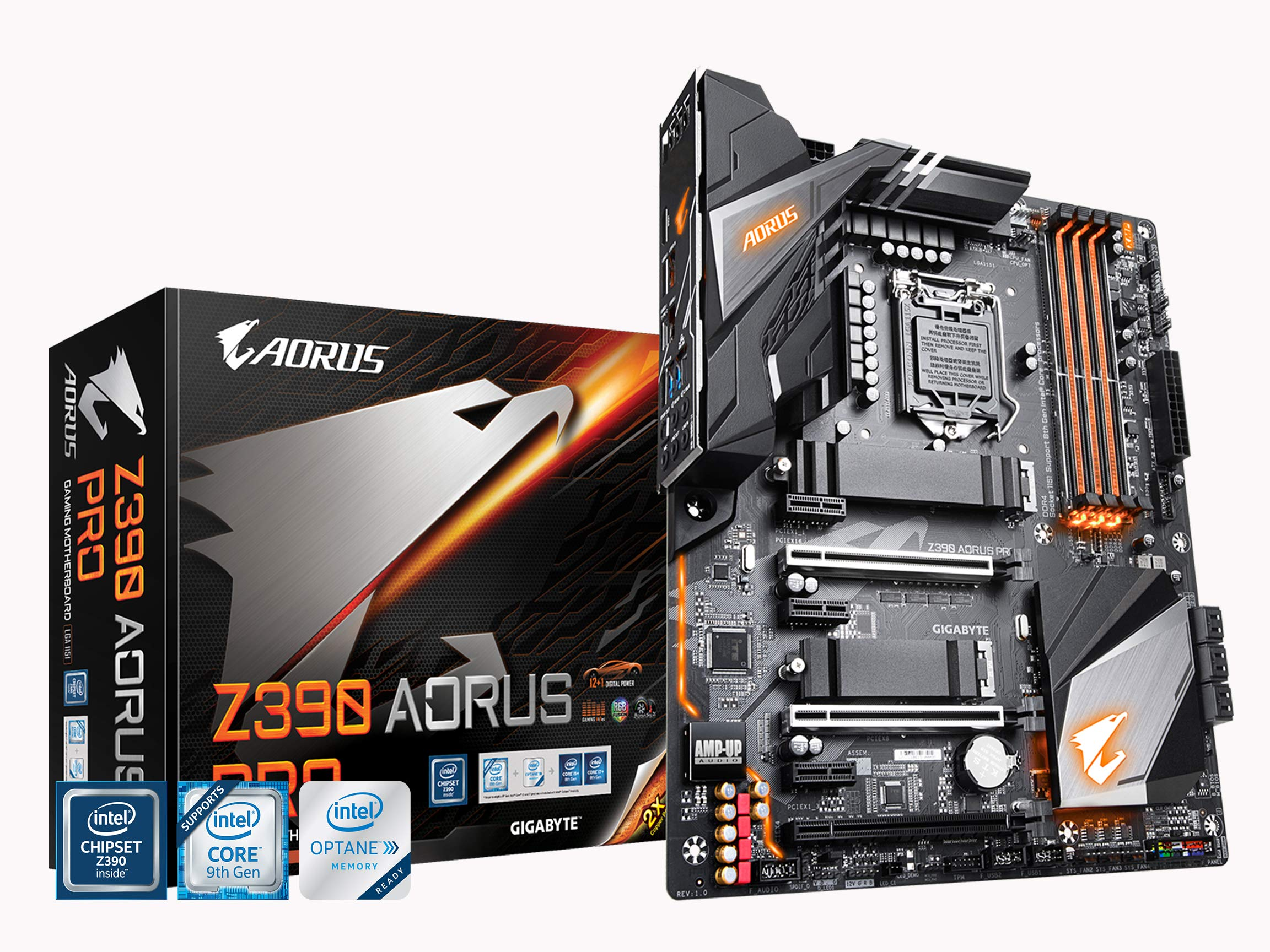 Gigabyte Z390 AORUS PRO (Intel LGA1151/Z390/ATX/2xM.2 Thermal Guard/Realtek ALC1220/RGB Fusion/Gaming Motherboard) by Gigabyte