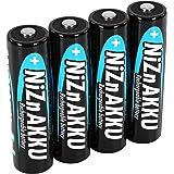 ANSMANN AA-Akkubatterie Nickel-Zink (NiZn), 1,6V / Wiederaufladbarer Mignon AA Akku, Typ 2500mWh / Ideal für Batteriebetriebene Geräte wie Fernbedienungen, Taschenlampen, Spielzeug uvm. (4er Pack)