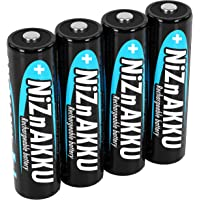 ANSMANN Nikkel-zink accu AA 1,6 V 2.500 mWh (1.600 mAh) penlite NiZn/Ni-Zn accu AA oplaadbare batterijen AA - ter…