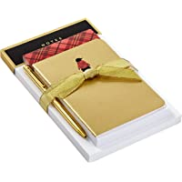 Hallmark Notepad Bundle with Pen, Plaid Penguin