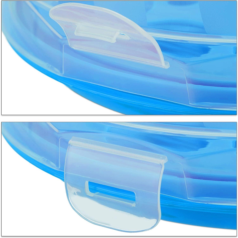 PP Cake Box 15,5 x 28,5 cm Relaxdays Porta Tartas Redondo Rojo-transparente Recipiente para Bizcochos con Tapa