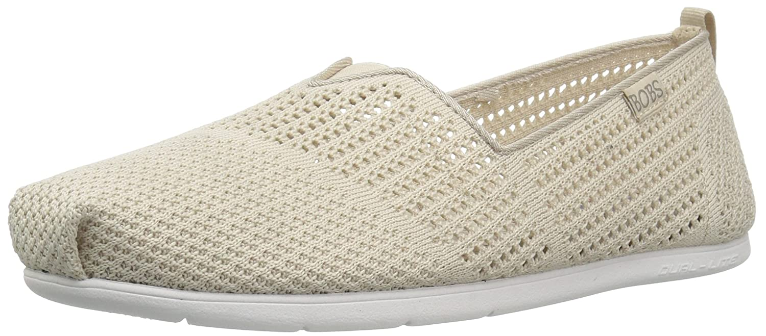 Skechers Women's Plush Lite-Peek Ballet Flat B074VFW3SZ 6.5 B(M) US|Natural