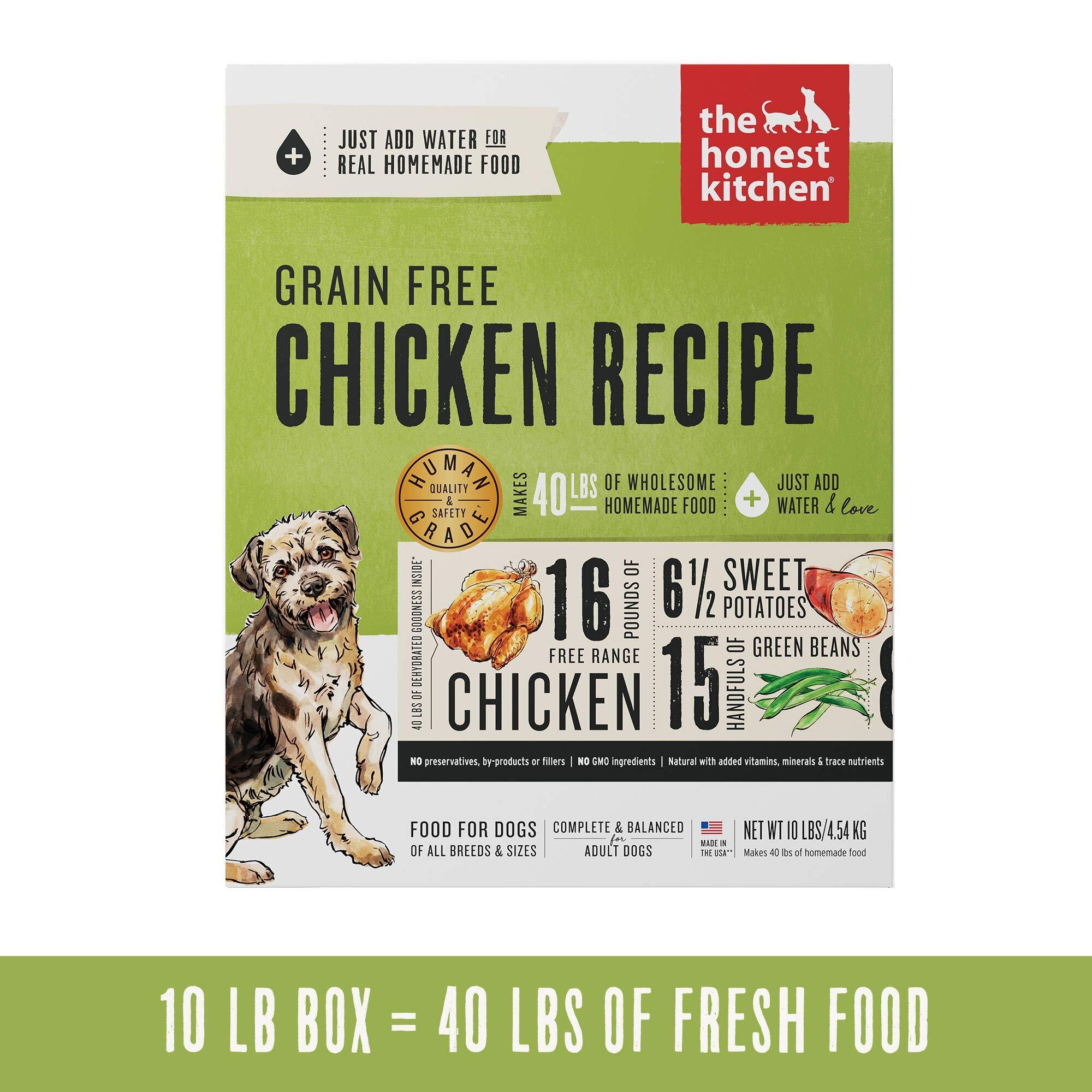 Honest Kitchen Human Grade Dehydrated Grain Free Chicken Dog Food 10 lb Box Force by Honest Kitchen