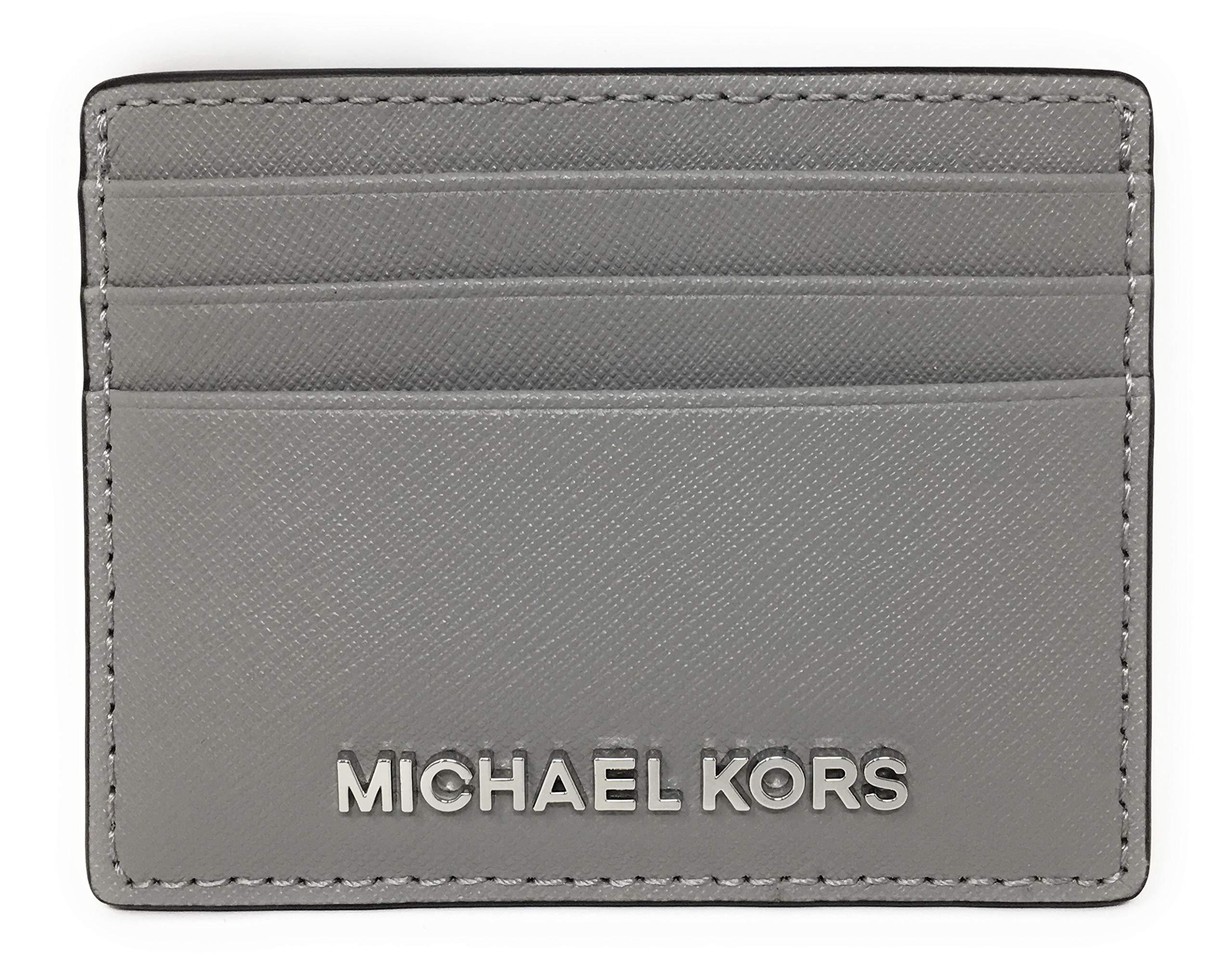 Michael Kors Jet Set Travel Large Saffiano Leather Card Holder (Ash Grey)