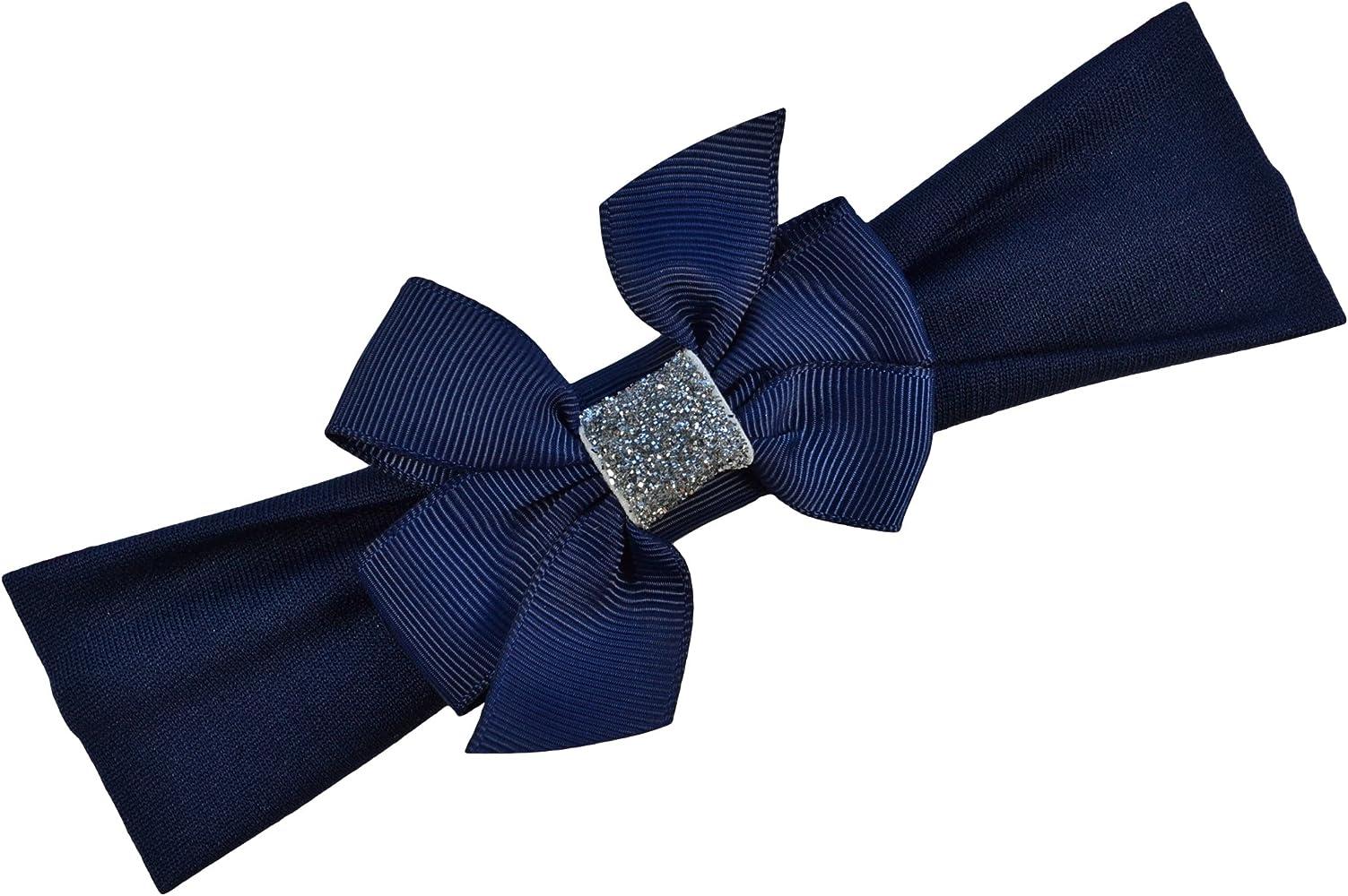 Navy Blue Glitter Bow Headband Small Navy Blue Gitter Bow Headband Newborn Navy Blue Glitter Bow Headband