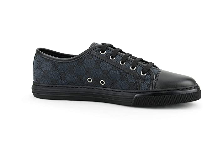 4f5bdaded Amazon.com: Gucci Men's Original GG Canvas Low-top Sneakers, Piombo/Nero  (Grey/Black): Shoes