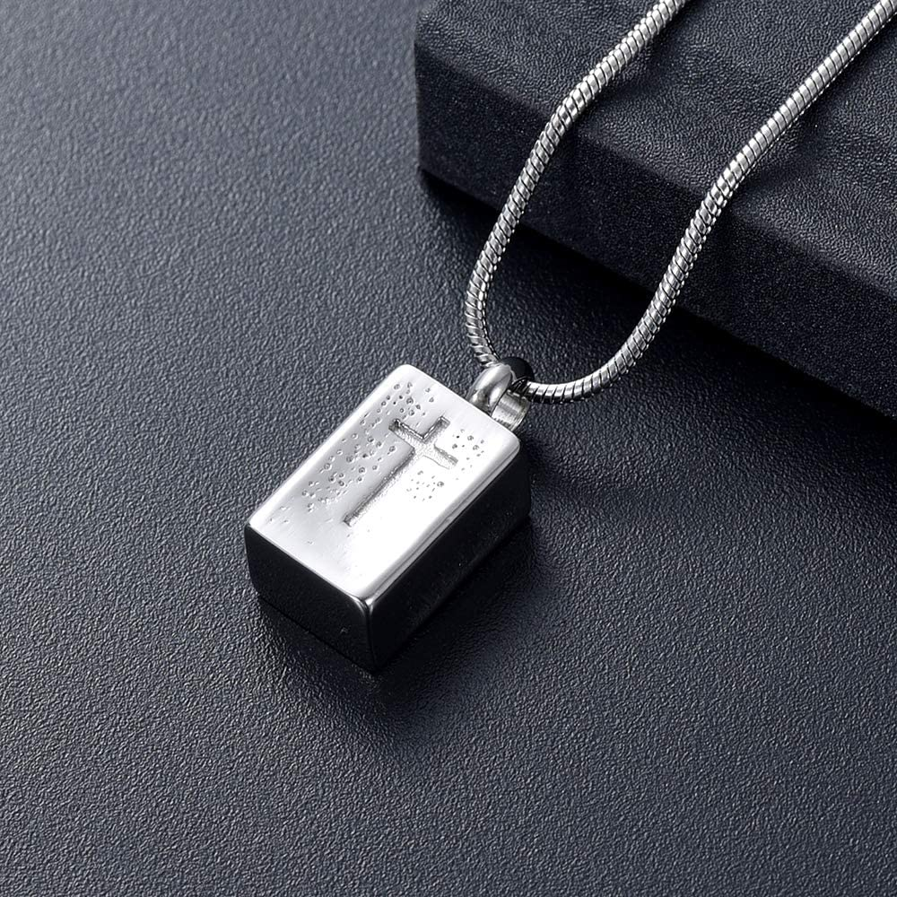 Imrsanl Cross Urn Necklace Cremation Jewelry for Ashes Keepsake Pendants Memorial Ashes Jewelry