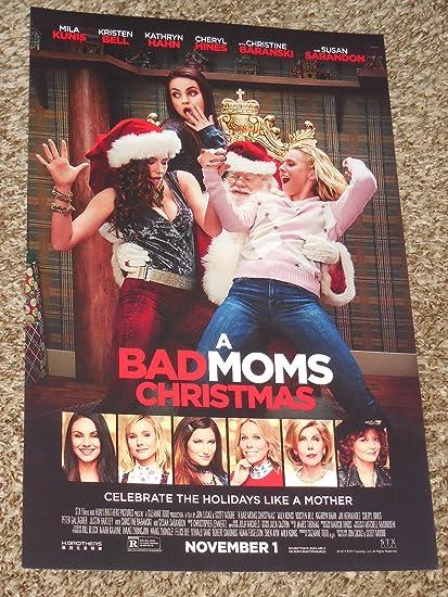 A Bad Moms Christmas Movie Poster.Amazon Com A Bad Moms Christmas Poster 11x17 Inch Promo
