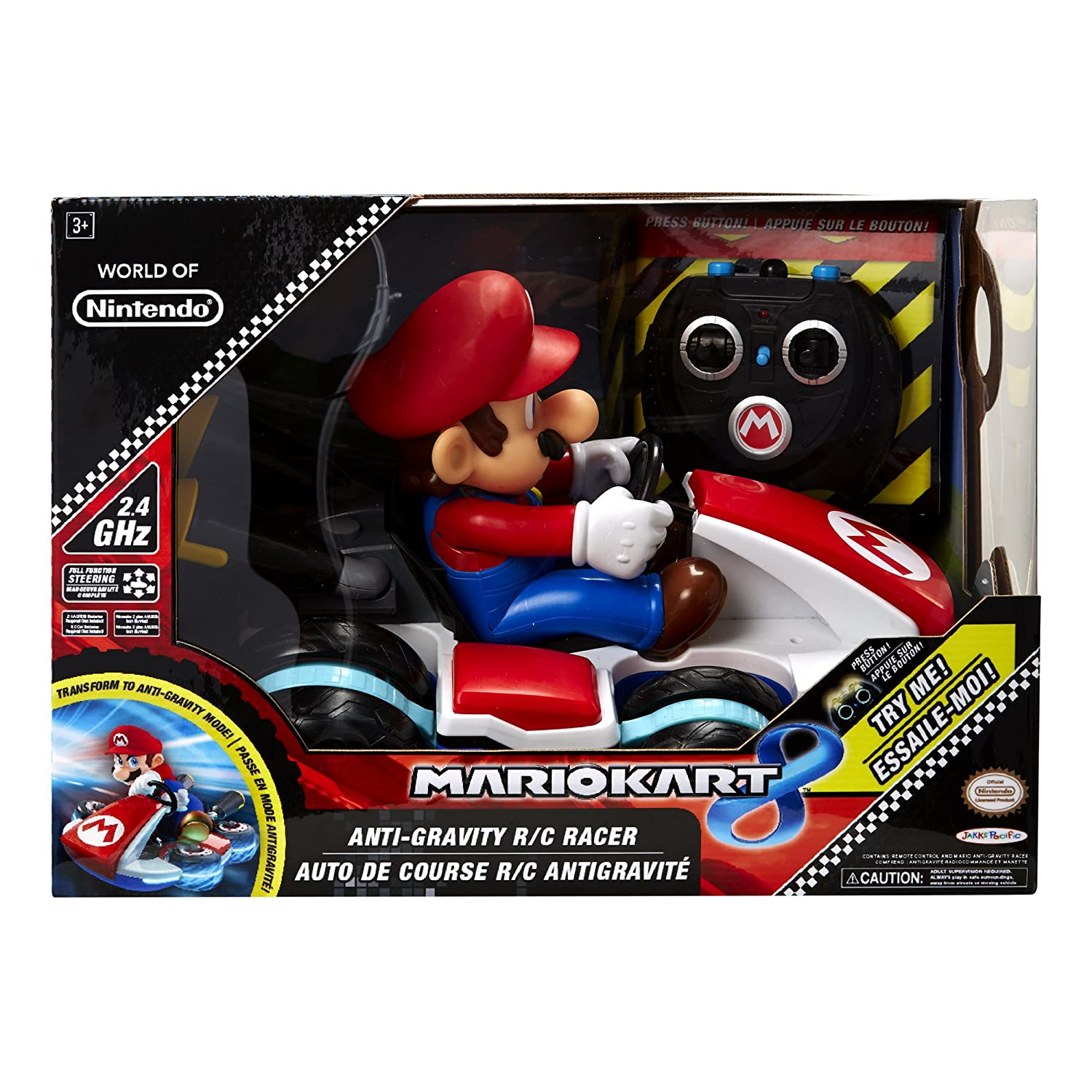 World Of Nintendo Mario Kart 8 Super Mario RC Racer: Amazon.es: Juguetes y juegos