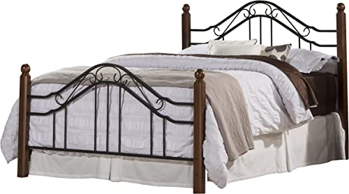 Hillsdale Furniture Madison Bed Set with Rails, Queen, Textured Black