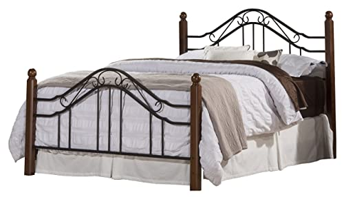 Hillsdale Furniture Madison Bed Set with Rails, King, Textured Black