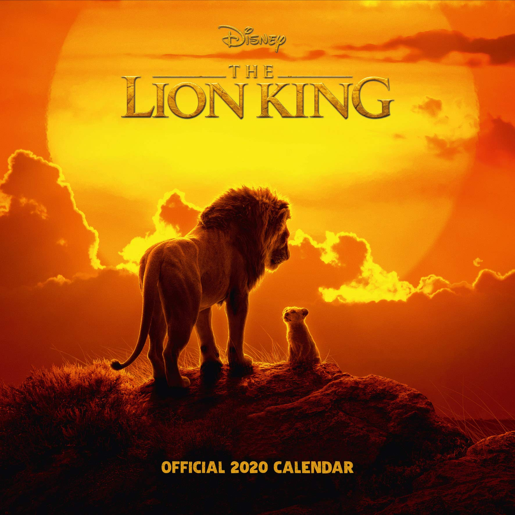 Disney Lion King 2020 Calendar - Official Square Wall Format Calendar by Danilo Promotions Limited