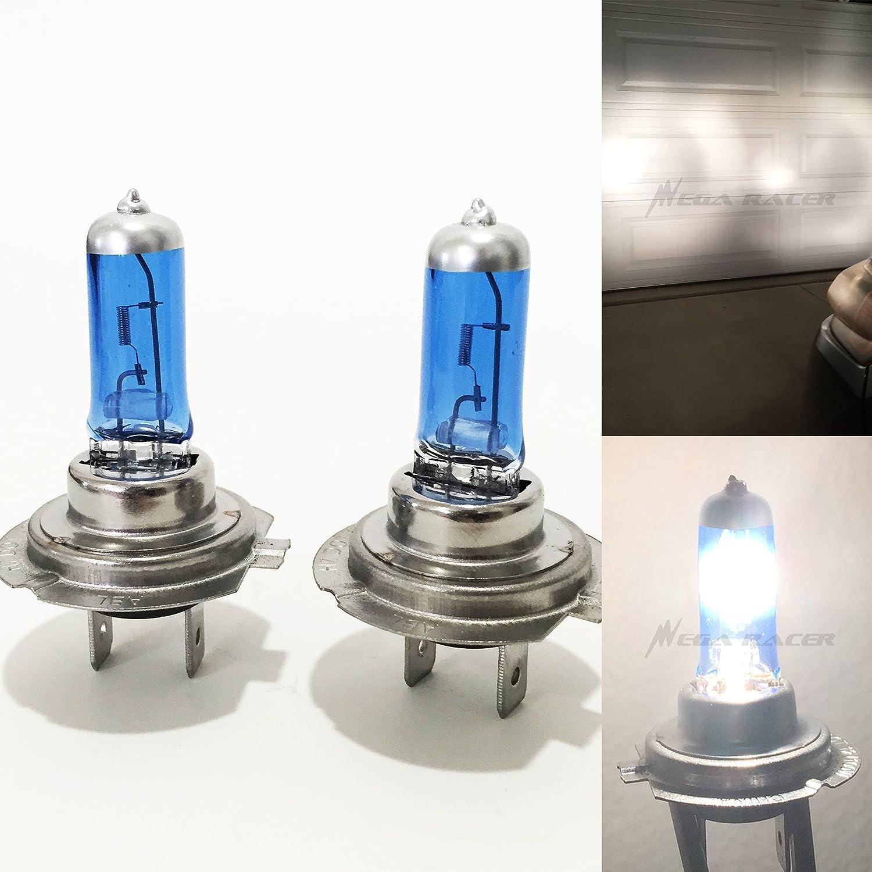 Mega Racer H7 55W White 5000K Xenon Halogen Headlight Lamp Light Bulb (Low Beam) DOT Replace Auto Car