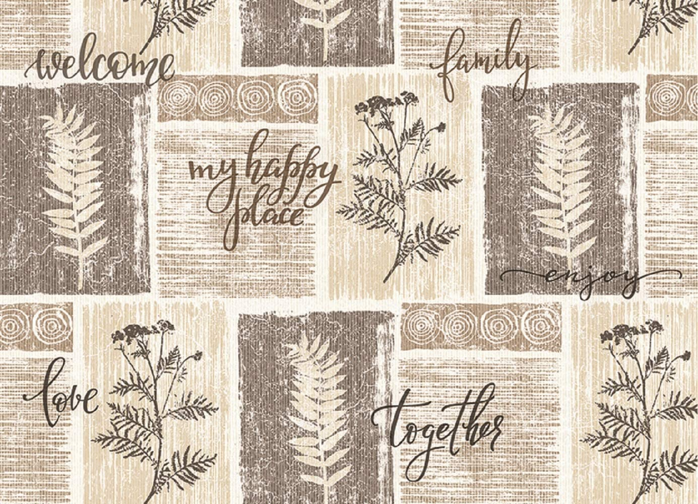 Cafe Scene Blissful Living Set of 4 Placemats Stain Resistant Decorate Your Kitchen Table with Our Beautiful Rectangle pad placemat