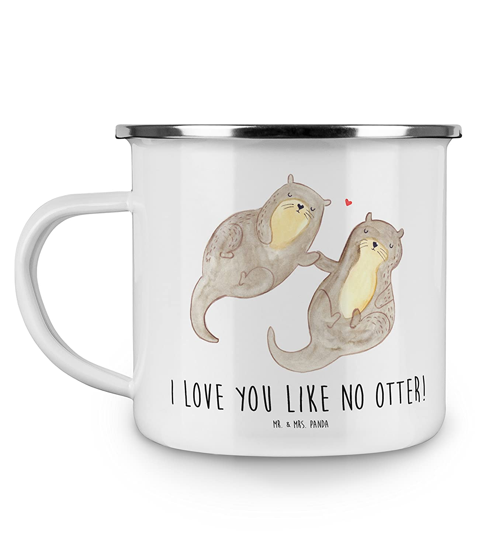 Mr. & Mrs. Panda Camping, Metalltasse, Emaille Tasse Otter ...