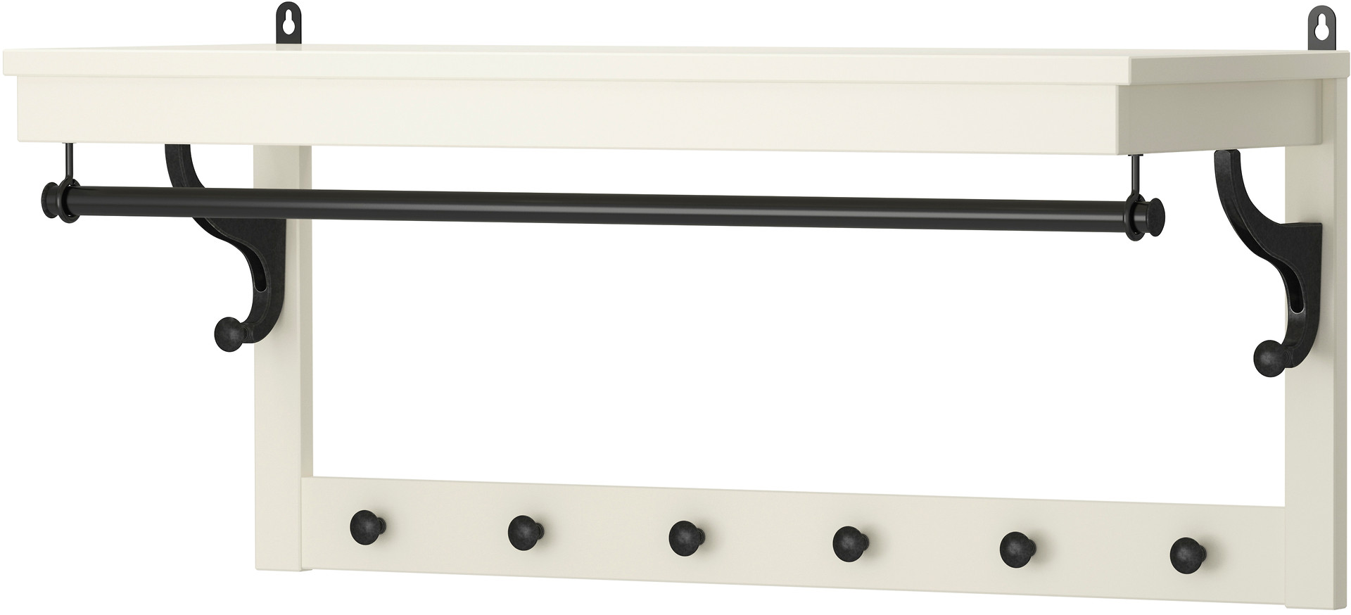 HEMNES Hat rack - white - IKEA