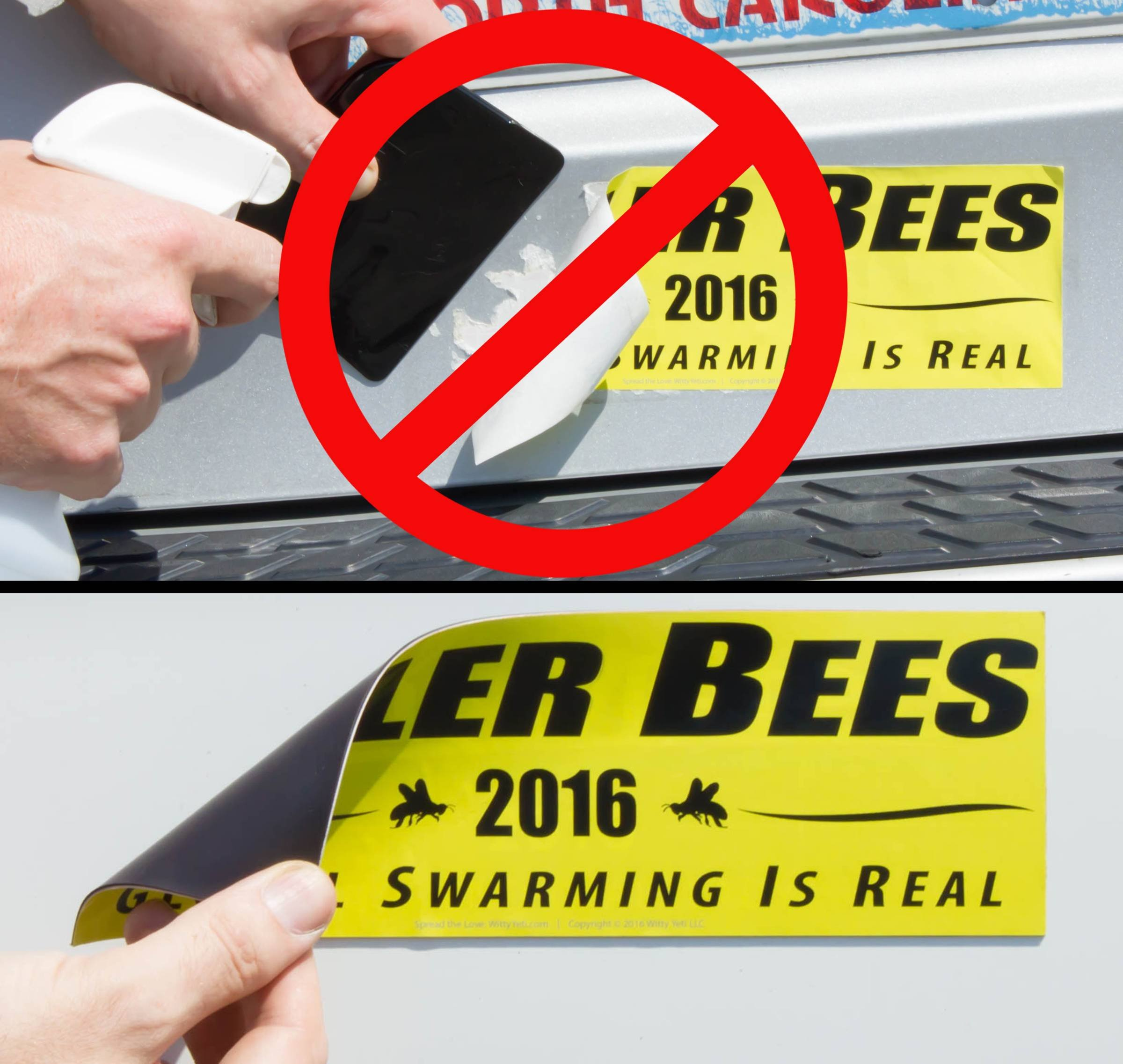 Cut-to-Size Bumper Sticker Magnetizer 10 Pack: Turn Any Decal Into a Strong Magnet. Durable & Weatherproof Magnetic Strip Protects Paint & Allows for Easy Swap. Flexible 4x12 Sheet Guaranteed to Stick by CarSignia (Image #2)
