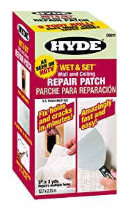 Hyde Tools 09911 5-Inch by 9-Foot Wet and Set Contractor's Roll Wall and Ceiling Repair Patch