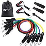 INTEY Resistance Band Set Exercise Bands with Door Anchor Attachment, Handles, Legs Ankle Straps for Resistance Training Physical Therapy Workouts Set of 5