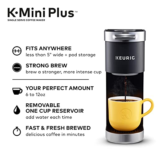 Amazon.com  Keurig K-Mini Plus Single Serve K-Cup Pod Coffee Maker ... b2ab1a8e5
