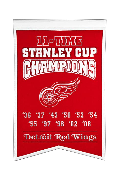 Amazoncom Nhl Detroit Red Wings Stanley Cup Champions Banner