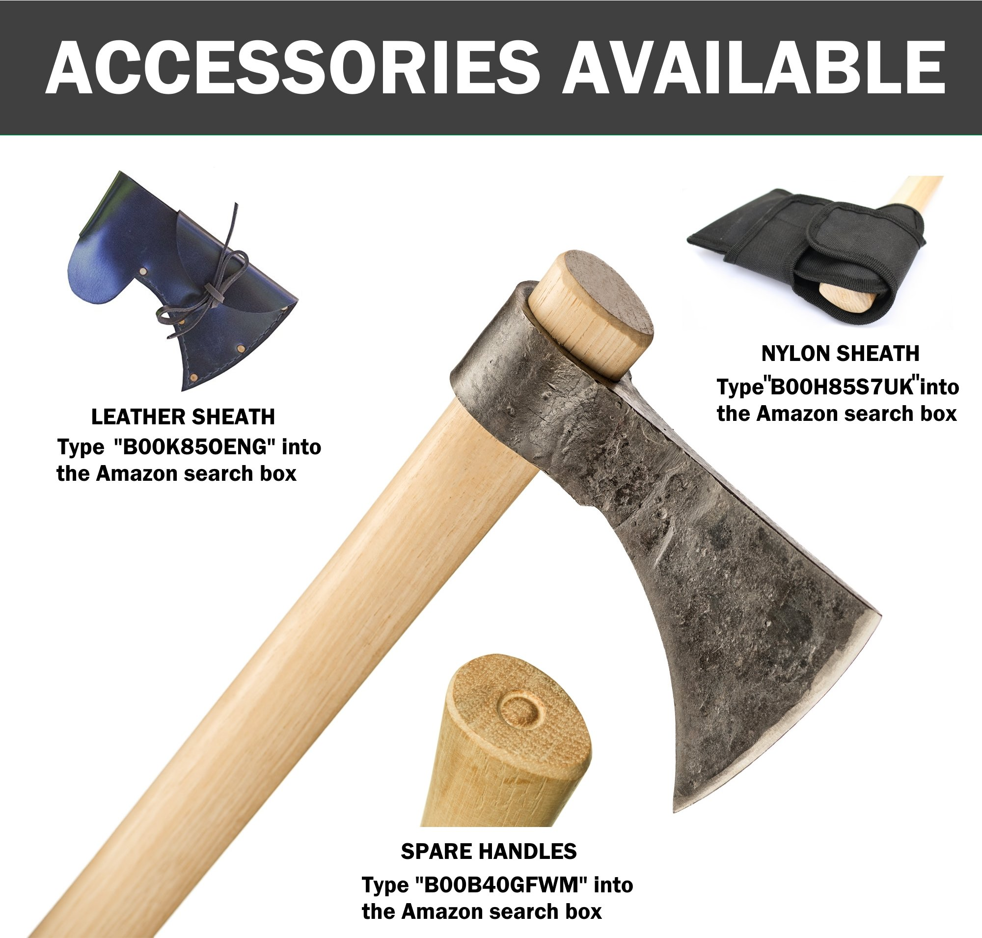 Thrower Supply Hand-Forged Carbon Steel Tomahawk, Natural Steel by Thrower Supply (Image #3)