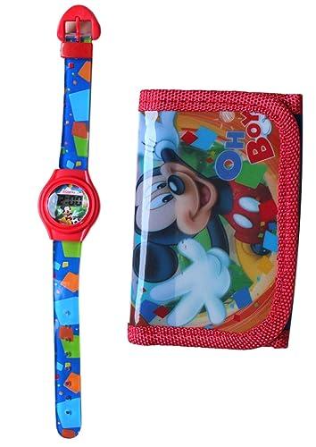 Reloj niño cuarzo digitale Disney Mickey Minnie Plus cartera: Amazon.es: Relojes