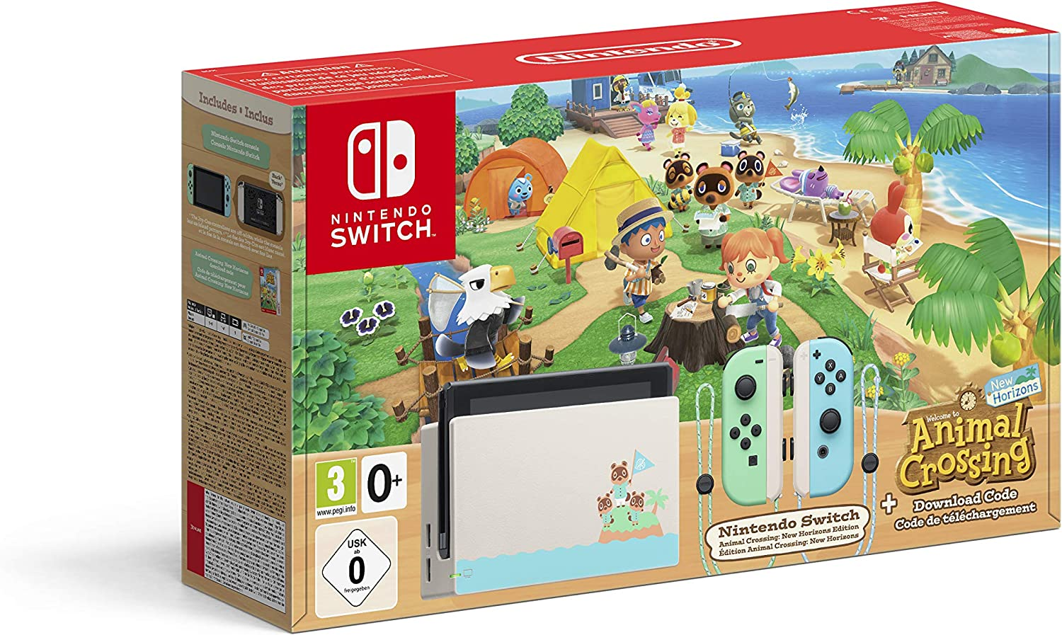 Nintendo Switch HW - Consola Edición Animal Crossing - Verde/Azul ...