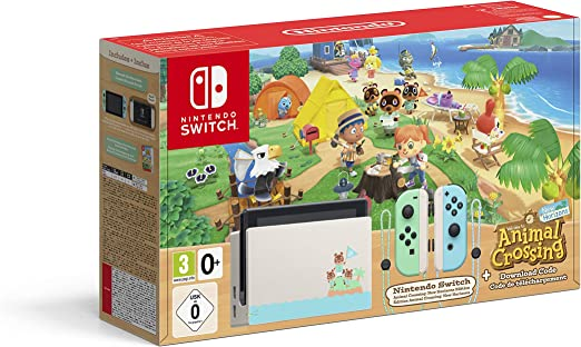 Nintendo Switch HW - Consola Edición Animal Crossing - Verde/Azul: Amazon.es: Videojuegos