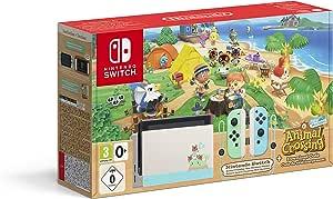 Nintendo Switch HW - Consola Edición Animal Crossing - Verde/Azul