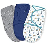 SwaddleMe Original Swaddle – Size Large, 3-6 Months, 3-Pack (Superstar)