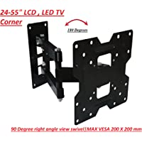"Gadget-Wagon 24"" to 43 "" Inches 180 degree swivel, 15 degrees Tilt, Full Motion Corner TV Wall Mount for all TV's & Monitor"