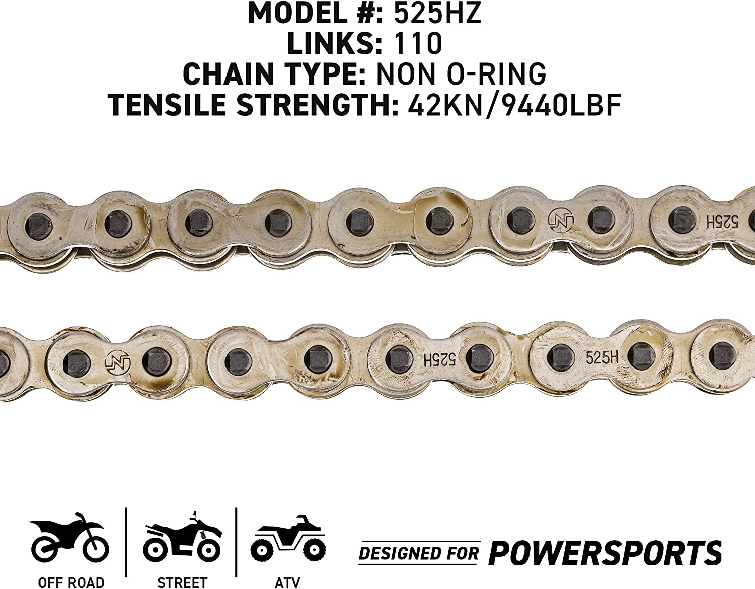 NICHE Drive Sprocket Chain Combo for Kawasaki Ninja ZX10R Front 17 Rear 41 Tooth 525V O-Ring 110 Links