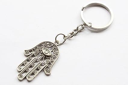 Antiguo joyas en plata llavero, llavero, diseño de mal de ...