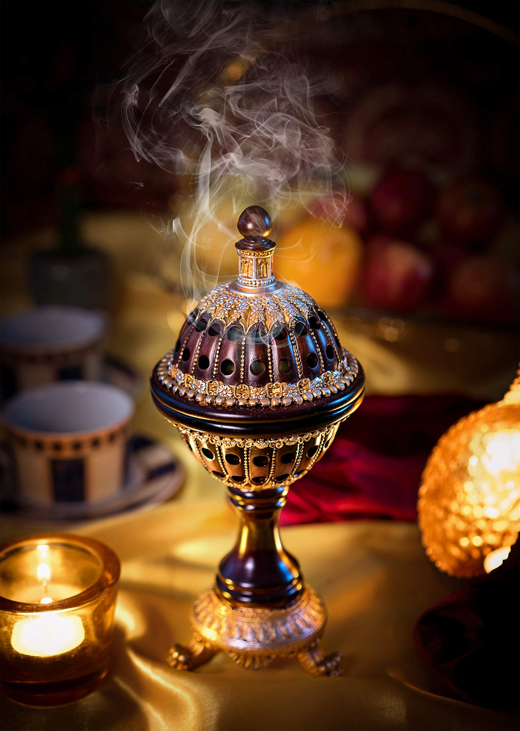 AM Incense Burner Frankincense Resin - Luxury Globe Charcoal Bakhoor Burners For Office & Home Decor by AM (Image #2)