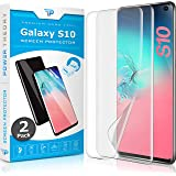 Power Theory Samsung Galaxy S10 Screen Protector Film [2-Pack] - [Not Glass] Full Cover, Case Friendly, Flexible Anti…