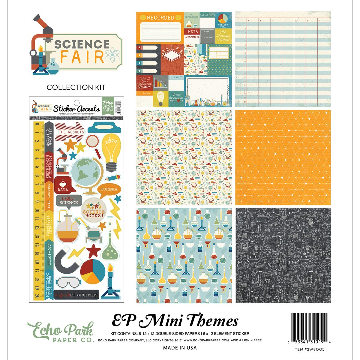Echo Park Paper Company Science Fair Collection Kit
