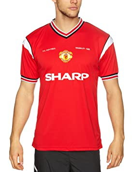 e6d2c7966d8 Score Draw Official Retro Manchester United 1985 FA Cup Final Shirt - Small