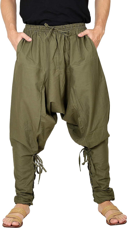 Mens Yoga Lightweight Cotton Dance Handmade Harem Pants Samurai Style