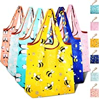 Reusable Grocery Shopping Bags Foldable with Pouch, Heavy Duty Nylon Cloth Reusable Bags for Groceries, Shopping Trip