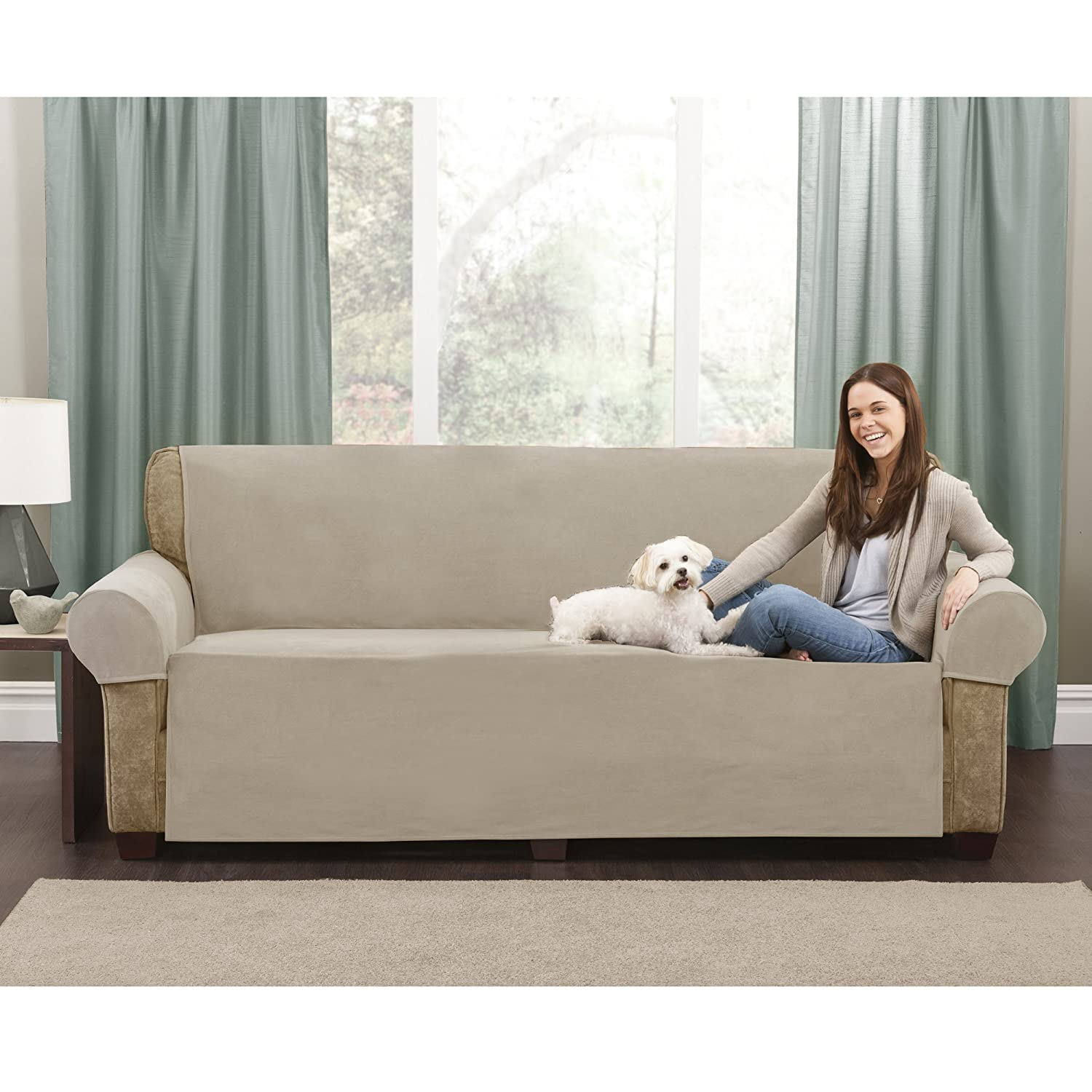 Amazon Maytex Sofa Pet Cover Set Tan Kitchen & Dining