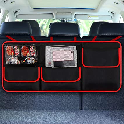 Ruesious Car Boot Tidy Organiser, Car Boot Organiser/Car Back Seat Organiser Storage Bag for Vehicle