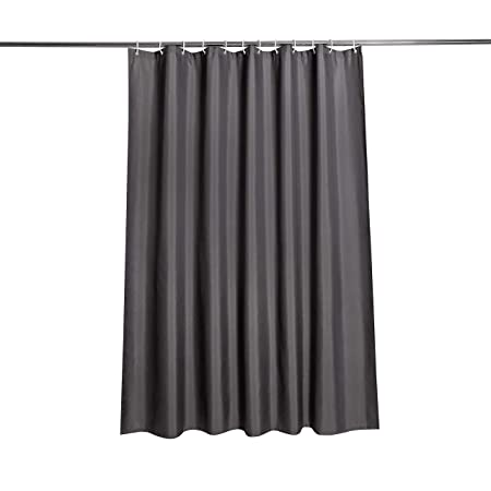 Eurcross Dark Grey Shower Curtain Mildew Resistant Thick Fabric