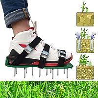 Mavicen Pelouse aérateur Spike Chaussures en Alliage de Zinc Boucles Et 4 Vert