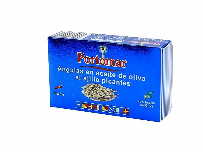 Angulas en aceite de oliva al ajillo picantes-Portomar-1 x 115gr-total