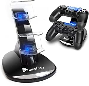 (Upgraded) Beastron PS4 Dual USB Charger Station Dock for Sony PS4 Controller