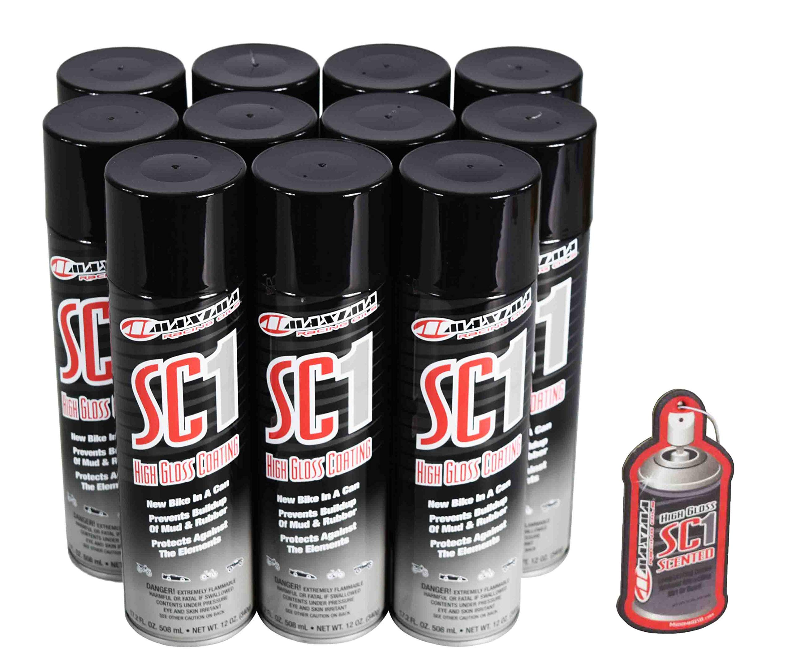 Maxima 78920 SC1 High Gloss Coating 17.2 FL. OZ. 508 mL - NET WT. 12 OZ Cleaner with SC1 Scented Air Freshener (11-Pack)